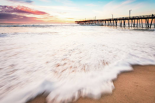 Sunrise Virginia Beach Seascape by Lisa McStamp