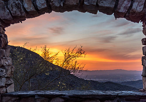 Sunrise Window - Phoenix Arizona by Leo Bounds
