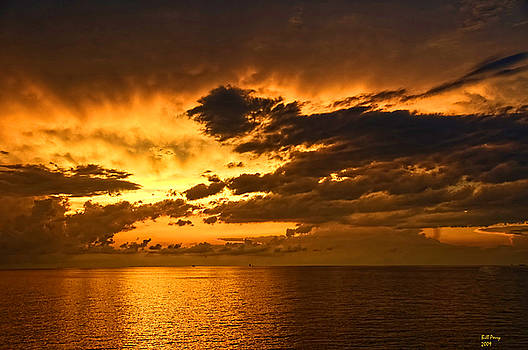 Sunrise with a rain shower by Bill Perry