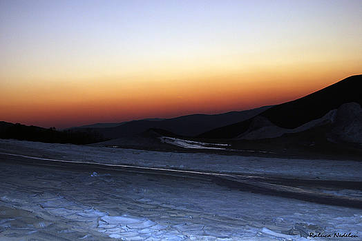 Sunset - Mud Volcanoes by Raluca Nedelcu