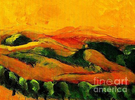 Sunset  2 Earth Goddess Hills by Harry WEISBURD