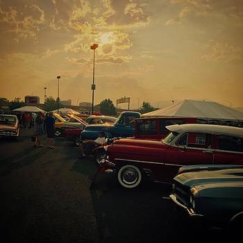 Sunset And A Car Show by Jen Lynn Arnold