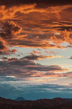 Sunset and Cerro Pedernal by Britt Runyon