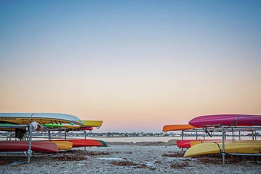 Lorrie Joaus - Sunset and kayaks