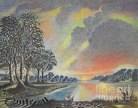 Sunset Angler by Gary Renegar