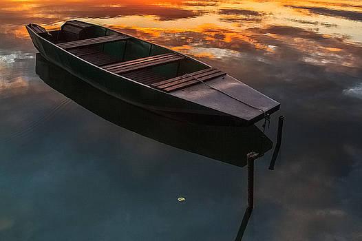 Sunset aquarelle by Davorin Mance