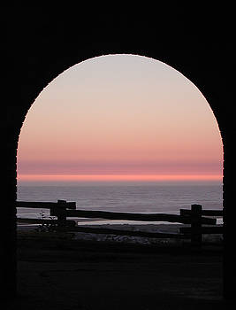Kathi Shotwell - Sunset Arch with Fog Bank