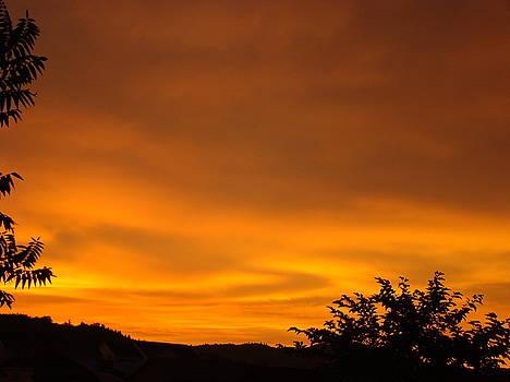 Baslee Troutman - SUNSET Art Prints Orange Glowing Western Sunset Baslee Troutman