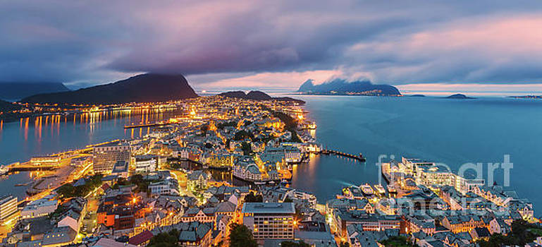 Sunset at Alesund, Norway by Henk Meijer Photography