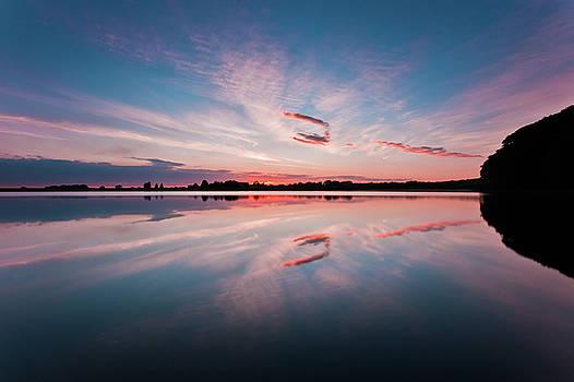 Sunset at Anglezarke Reservoir #3, Rivington, Lancashire, North West England by Anthony Lawlor