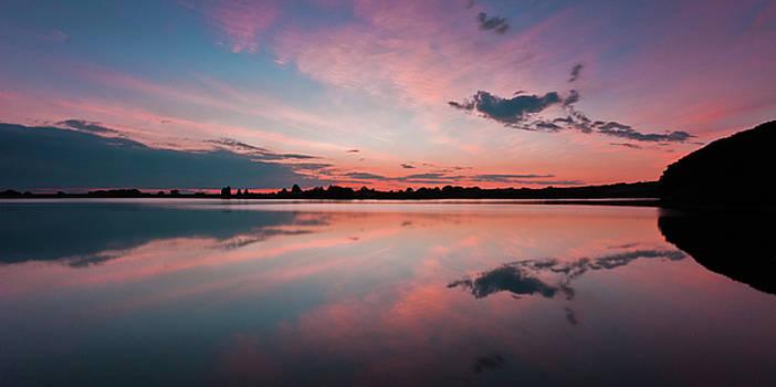 Sunset at Anglezarke Reservoir #4, Rivington, Lancashire, North West England by Anthony Lawlor