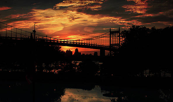 Sunset of RFK Bridge by William Cruz