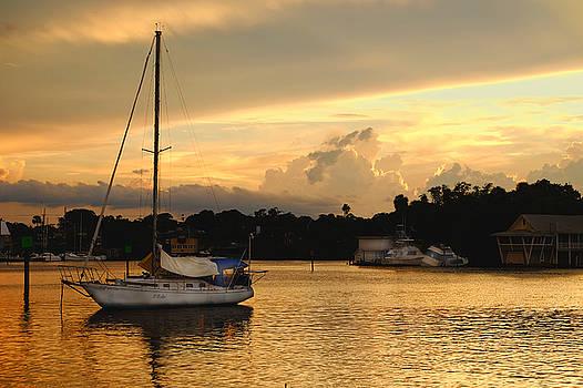 Sunset at Ballard Park by Charles Van Riper