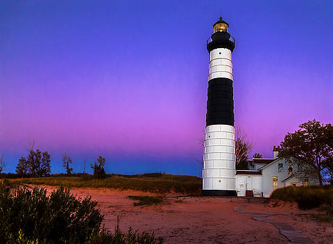 Susan Rissi Tregoning - Sunset at Big Sable Light 2