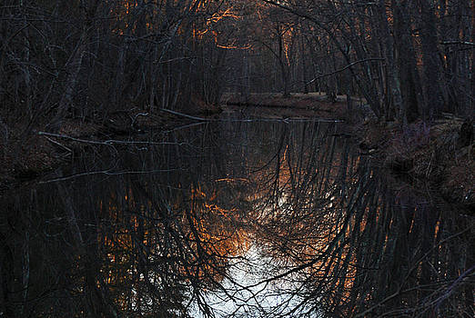 Sunset at Blackstone Canal, Uxbridge Massachusetts by Bob See