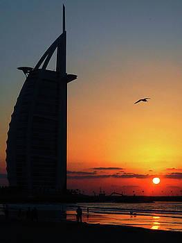 Sunset at Burj Al Arab by Graham Taylor