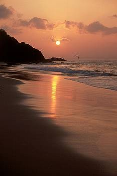 Sunset at Cacimba do Padre - Fernando de Noronha - Brazil by Maria Adelaide Silva
