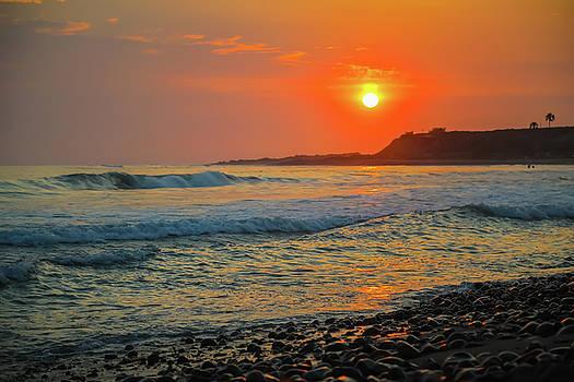 sunset at California beach by Hyuntae Kim