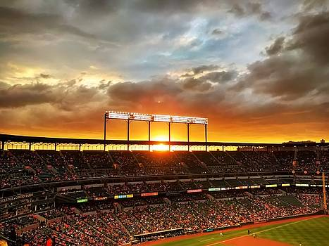 Sunset at Camden Yards by Chris Montcalmo