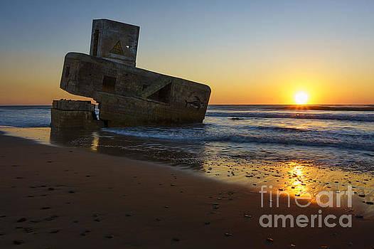 Sunset at Camposoto Beach San Fernando Cadiz Spain by Pablo Avanzini