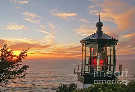 Sunset at Cape Meares by Tim Moore