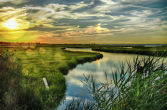 Sunset at Captree by Joseph Pellicone