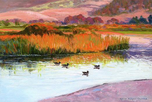 Sunset at Carmel River by Rhett Regina Owings