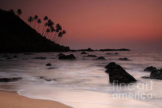 Sunset at Cola Beach Goa by Deborah Benbrook