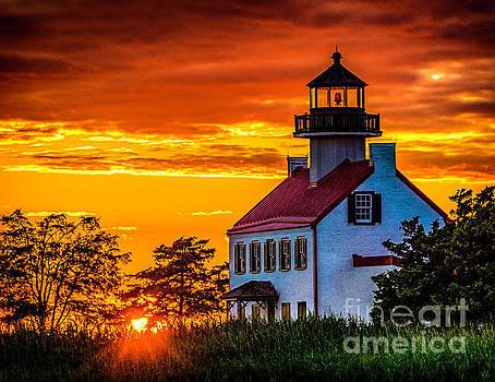 Sunset at East Point Light by Nick Zelinsky