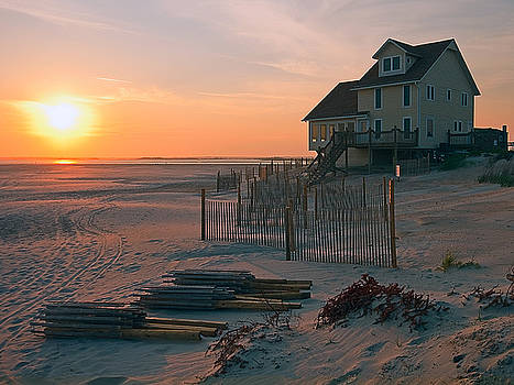 Sunset at Emerald Isle by Norman Drake