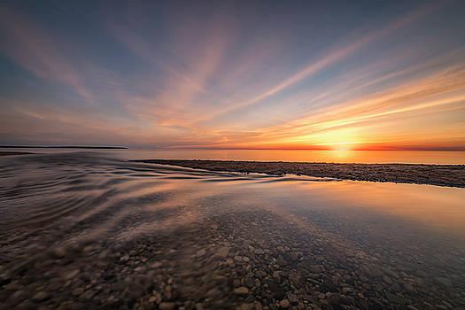 Sunset at Esch Beach #2 by Marybeth Kiczenski