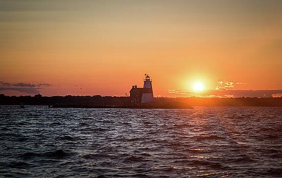 Sunset at Execution Rock Lighthouse by Zina Zinchik