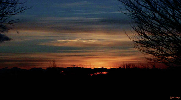 Sunset at Fort Needham Memorial Park by Celtic Artist Angela Dawn MacKay