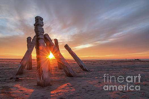 Sunset at Great Salt Lake by Spencer Baugh