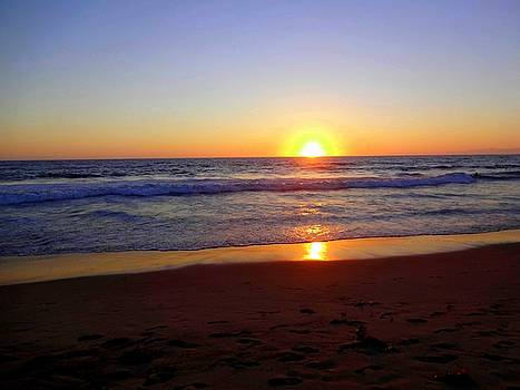 Sunset at Hermosa by Donna Spadola