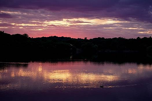 Sunset at Jamaica Pond by Ernesto Arroyo-Montano