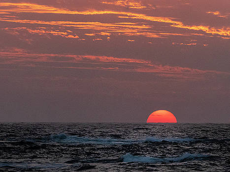 Sunset at Kekaha Beach, Hawaii by Mary Lee Dereske