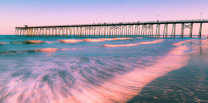Ranjay Mitra - Sunset at Kure Beach Fishing Pier Panorama