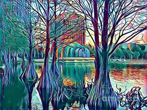 Sunset at Lake Eola by Alyson Innes