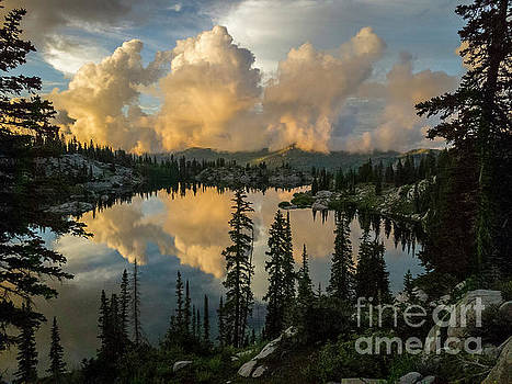 Sunset at Lake Mary by Spencer Baugh