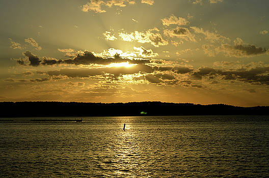 Sunset at Lake Springfield by Sue Houston