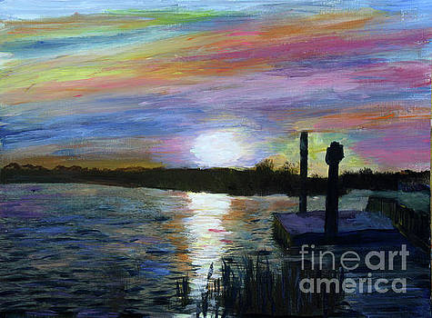 Sunset at Loxahatchee by Donna Walsh