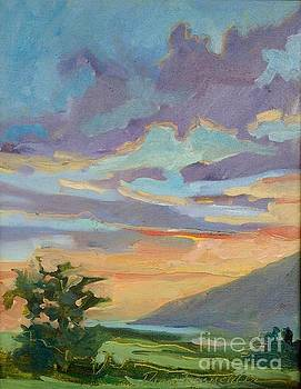 Sunset at Makawao by Diane Renchler