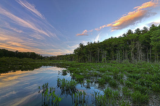 Sunset at Mass Audubon's Broadmoor Wildlife Sanctuary by Juergen Roth
