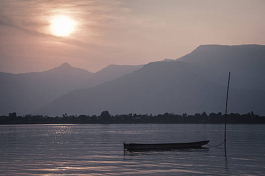 Sunset at Mekong by Maria Heyens