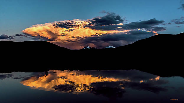 Sunset At Mount Guyot and Bald Mountain by Stephen Johnson