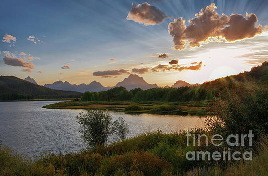 Sunset at Oxbow Bend by Sharon Seaward