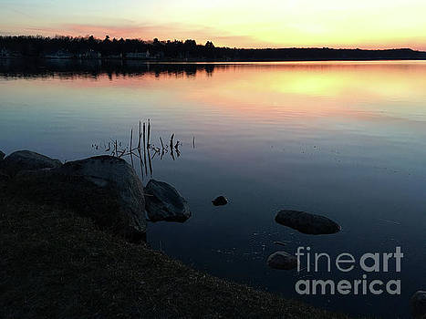 Sunset at Pentwater Lake by Laura Kinker