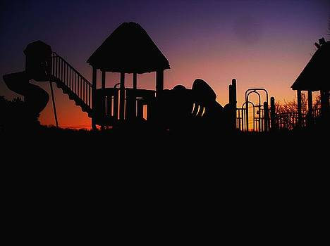 Sunset at playground by Terry and Brittany Sprinkle