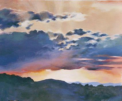 Sunset At Quialigo by Ekaterina Mortensen